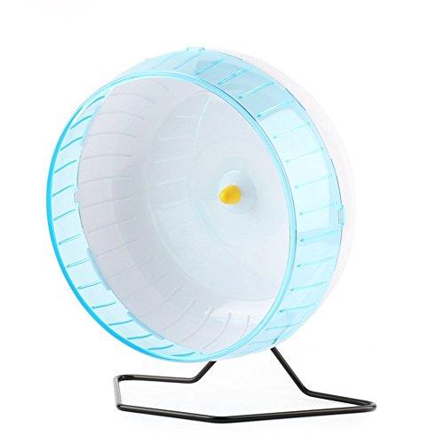 Pet Online Rueda de ejercicio de soporte sobredimensionado 30cm bracket rueda de ejercicio hámster erizo conejo pequeño animal Sport wheel,azul