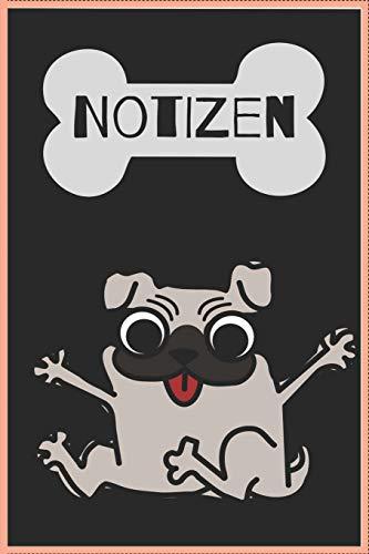 Notizbuch: 120 Seiten / kariert / DIN A5 (6x9) / Hundemotiv #31