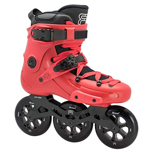 FR Skates FR1 310 RED 2019-3 Rollrahmen und 110 mm Rollen Inlineskates für Freeride, Slalom, City Skating...