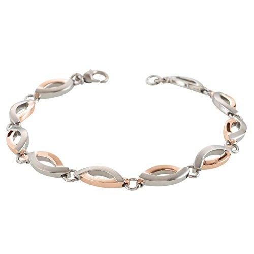 Boccia Damen-Armband Titan gebürstet 20 cm-03001-03