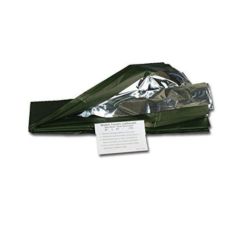 g8ds® Survival- / Rettungsdecke Silber/Oliv