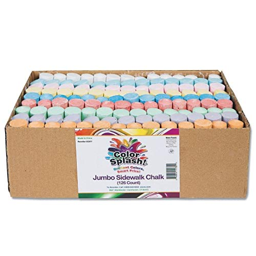 S&S Worldwide - ST00-406 Color Splash! Giant Box of Sidewalk Chalk(Box of 126)