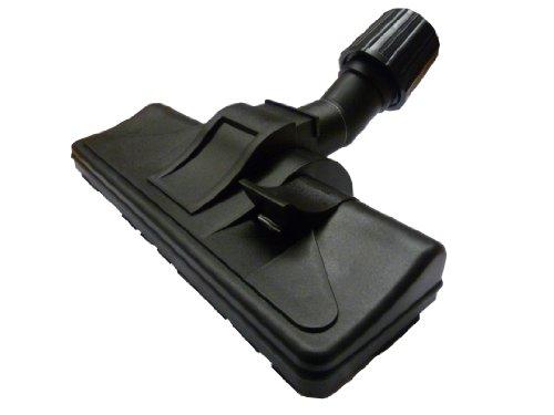 Mister vac A353 Spazzola universale per aspirapolveri, utilizzo convertibile per moquette o piastrelle, con rotelle e giunto girevole, con guarnizione in gomma, 32-38 cm