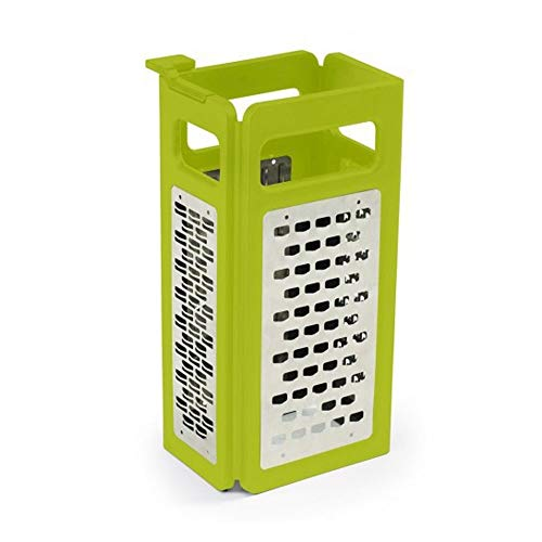 SXXYTCWL 4-in-1 Vegetable Cutter PP+ Stainless Steel Manual Shredder Foldable 4-Sided Three-Dimensional Food Grater Household Kitchen Slicer Suitable for Cheese Potato Cucumber Carrot Vegetable Salad