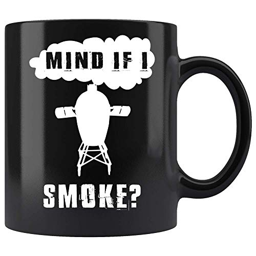 N\A Payaso desafiante Taza de café Divertida Mente si Fumo fumando Parrilla Barbacoa cerámica (Negro,)