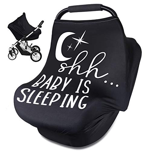 Nursing Cover Carseat Canopy, Rquite Car Seat Covers for Babies Mom Breastfeeding Scarf Infant Multi Use Cover Ups for Baby Stroller & Shopping Cart & Feeding High Chair -Large Size for Kid