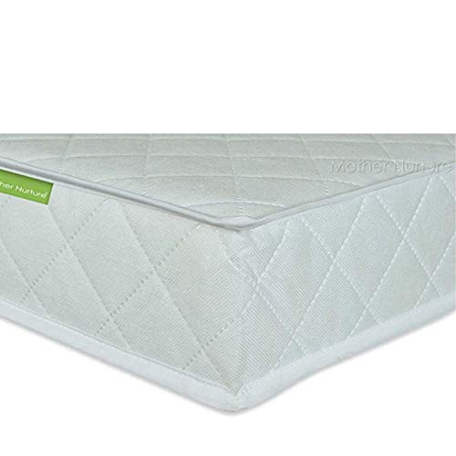 MOTHER NURTURE Classic Spring Cot Bed Mattress 140 x 70 x 10cm, White/Neutral