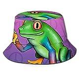 Peace Frog Fisherman Hats Unisex Summer Outdoor Packable Cap Travel Beach Sun Hat