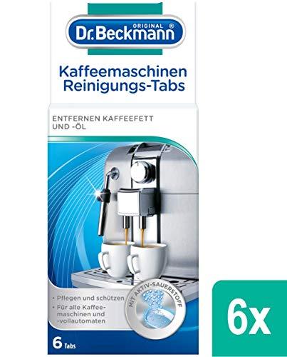 Sonderangebot: Dr. Beckmann Kaffeemaschinen Reinigungs-Tabs | entfernen Kaffeefett und -öl | mit Aktiv-Sauerstoff, 6er Pack (6x 6 Tabs) und mehr