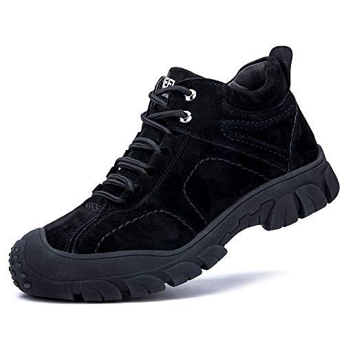 [マンディー] 安全靴 ハイカット ブーツ 作業靴 メンズ 鋼先芯 裏起毛 防水 防寒 スニーカー 滑り止め 耐摩耗 ワークブーツ 衝撃吸収 登山靴 832-2/41