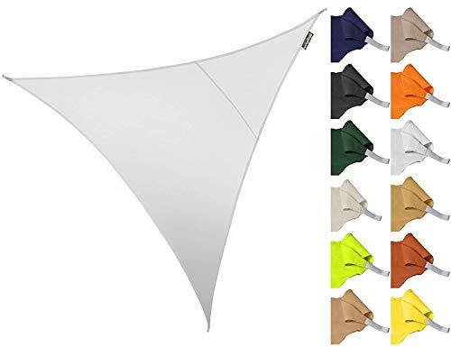 ZHhome 3 * 3 * 3m Dreieck Wasserdicht Garten Terrasse Sonnenschirm Segel Baldachin 96,5{96746cb9e4158be43c10dec8e3bbd05deab1c8ed267684bc7512d2c1dafea872} Anti-uv Abschirmung Tuch (Farbe : Weiß)