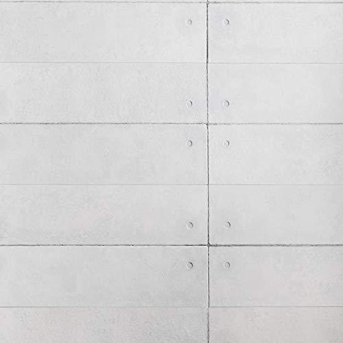 Wandverkleidung Steinoptik/Holzoptik - 3D Wandpaneele aus EPS Schaumstoff/Styropor - Kunststoff Steinpaneele (HD Printed) - Wandplatten/Wandverblender für Innen (Grau)