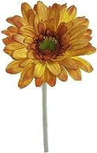 Renaissance 2000 人造Gerbera Daisy Stem,橙色,均码