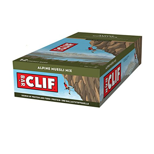 Clif Bar Barre protéinée Alpine muesli Mix -Lot de 12 barres.