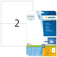 Herma 5064210x 148mmカラーレーザー用紙長方形プレミアムマルチ機能ラベル–マットホワイト( 50ラベル、2perシート)