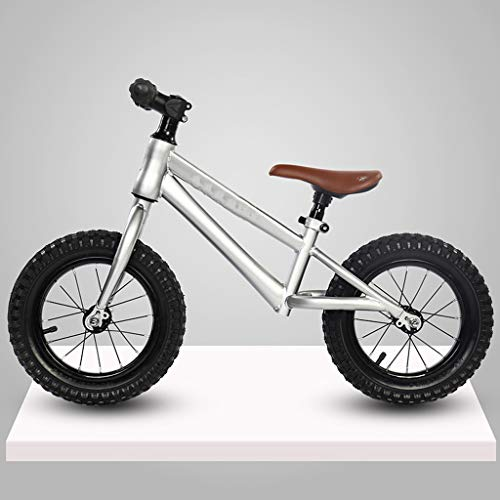GASLIKE Spingere Bambini Sport Bambino Balance Glider Bici Walking Bicicletta per Boys & Girls 12 Pollici per 18 Mesi 2 3 4 5 Anni per i più Piccoli,Grigio