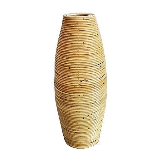 Jingyinyi Vasi in Rattan Naturale, vasi in Rattan, vasi in Rattan, vasi da Pavimento in Rattan, Decorazioni per finestre, vasi da Soggiorno-Altezza 100 cm