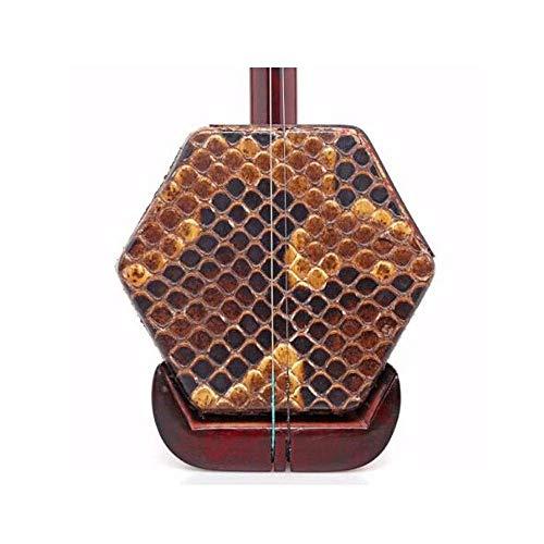 Erhu Musikinstrument, African Lobular Palisander Erhu, Universal-Instrument for Anfänger Spiele for Erwachsene, (ganze Reihe von Zubehör) (Farbe: Palisander) HUERDAIIT (Color : Rosewood)