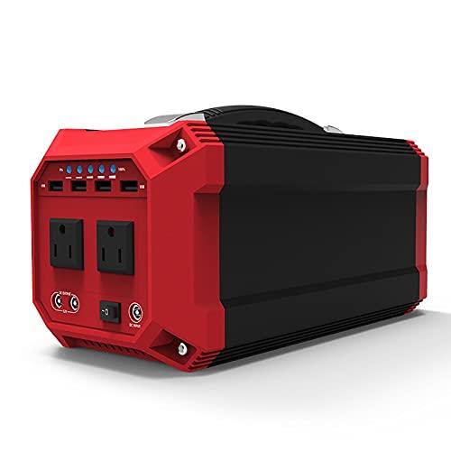HBHBYNYN Generador portátil Solar 30 0W 333WH Central Portátil Portátil Camping Generador Portátil, con C.A. Jack y USB por CPAP Viaje de Campamento (Color : Black)