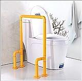 WLKQ Baño De La Barandilla Sin Barreras Plegable Inodoro para Minusválidos Pasamanos De Seguridad para Ancianos Barandas De Baño Barra De Apoyo para Inodoros,Amarillo