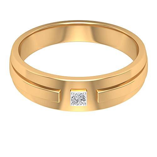 Rosec Jewels - 18 Karat Gelbgold Runder Brilliantschliff Leicht Getöntes Weiß/Top Crystal (I) Diamant