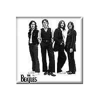 The Beatles 冷蔵庫用マグネット ホワイト Iconic Image 新しい 公式 76Mm X 76Mm