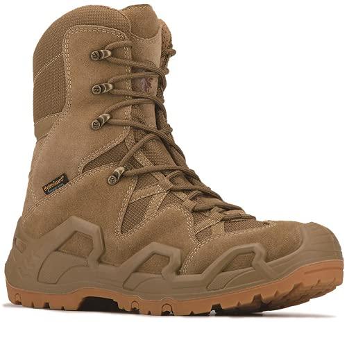 RockRooster Walland Men 6 inch Combat Boots for men, Trekking Waterproof Rubber Outsole Backpacking Hiking Boots KS737-11
