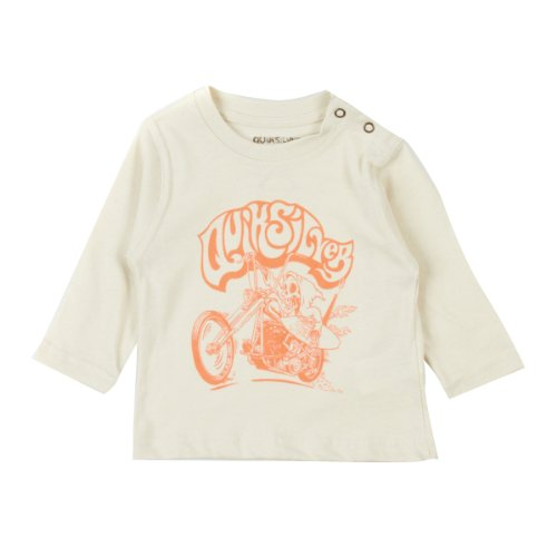 Quiksilver Nomad Organic Easy Rider T-Shirt à Manches Longues Unisexe 6-12 Mois Silver
