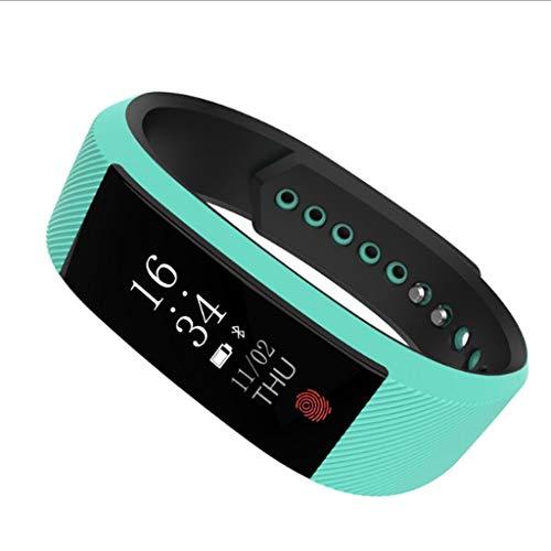 Zweifarbiges Armband Smart Armband Sport-Step Wasserdichtes Armband Horizontaler und vertikaler Bildschirm WeChat QQ Call Reminder Smartwatch (grün)