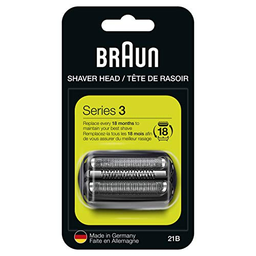 Braun 21B Shaver Replacement Part, Black, Compatible with Models 300s and 310s (packaging may vary)