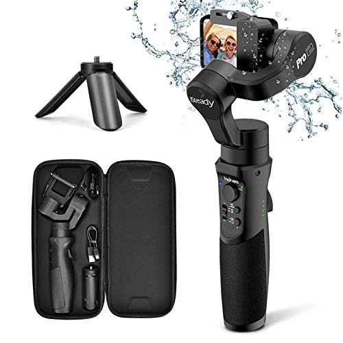 3axis Gimbal Stabilizer for GoPro Action Camera Handheld Pro Gimbal Tripod Stick with Motion Time-Lapse APP Control for Gopro Hero 7,6,5,4,3,SJ CAM,YI...