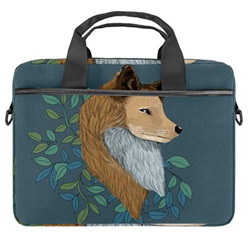 Laptop Sleeve Business Briefcase Messenger Bag with Detachable Shoulder Strap Winking Fox