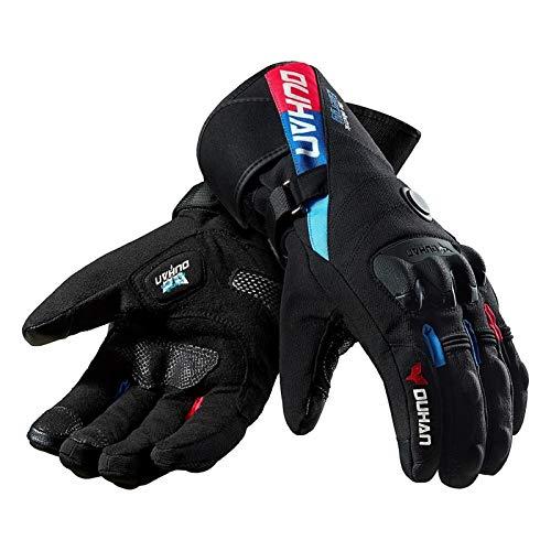 Duhan Winter Motorcycle Gloves Constant Temperatura Calefacción Cálido Apropiete a Prueba De Viento 100% Impermeable Moto Guantes Motorbike Guantes De Montar Para Utilizado en Deportes de Invierno.