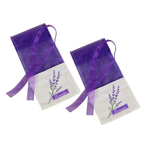 Hemoton 25 Stück Lavendelsäckchen Leere Organza Lavendel Beutel Duft Kordelzugbeutel Gewürze Kräuter Säckchen Organzabeutel Duftsäckchen für Schlafen Outdoor Geschenk (Dunklelila)