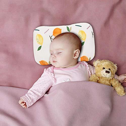 Cojín inofensivo para protección de la cabeza del bebé, para cuna de viaje(Two-color lemon)