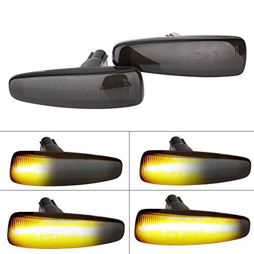 YongYeYaoBEN EG-Lights, LED ámbar Fender 2pieces dinámico Marcador Lateral Luces de Giro Amarillo 8351A001 for Mistubish Lancer EVO X Humo de luz LED