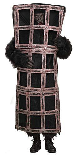 Forum Novelties Inc. Gorilla Affe im Käfig Kostüm für Erwachsene Standard-Größe
