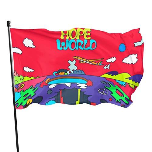 LL-Shop BST J-Hope Hope World Personaliza y Decora la Bandera del jardín