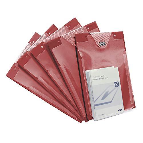 Eichner Organisation GmbH & Co. KG Auftragstasche m. Klettverschluss u. Kordel DIN A4 rot VE 10 St.
