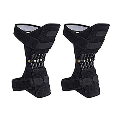 DONG Elevación mecánica Soporte de articulación Rodilleras Protección de Rodilla Potente Rebote Fuerza Ajustable Fuerza Rodillera