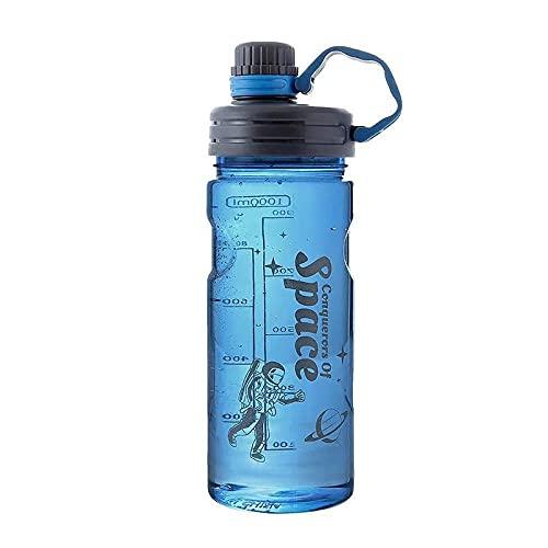 SDGSDG Protección del medio ambiente Botella deportiva sin BPA/Filtro de gran capacidad-blue_3000ml/ Botella de agua deportiva para gimnasio, viajes, oficina y hogar