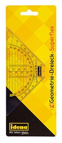 Idena 602083 - Geodreieck Superflex, 14 cm, transparent, 1 Stück