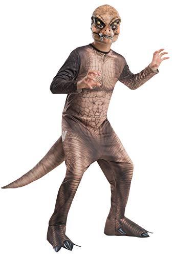 Jurassic World - Disfraz de dinosaurio T-Rex para niños, infantil talla 5-7 años (Rubie