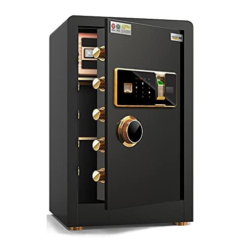Tresore Elektronischer Safe for Privathaushalte Mit Mittlerer Kapazität Passwortschutz for Fingerabdrücke Safe for Büroalarmanlagen Diebstahlsicherung Aus Stahl (Color : Black, Size : 38 * 34 * 60cm)