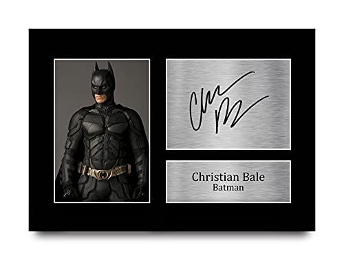 HWC Trading Christian Bale Signed Autograph Printed A4 Batman The Dark Knight Play Picture Photo Print