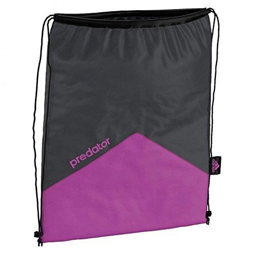 adidas Turnbeutel Predator Gymbag, Dark Grey/Flash Pink S15, 50 x 35 x 2 cm, 15 Liter