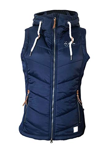 Dry Fashion Damen Weste Malente Stretcheinsätze Steppweste ärmellos, Farbe:dunkelblau, Größe:40