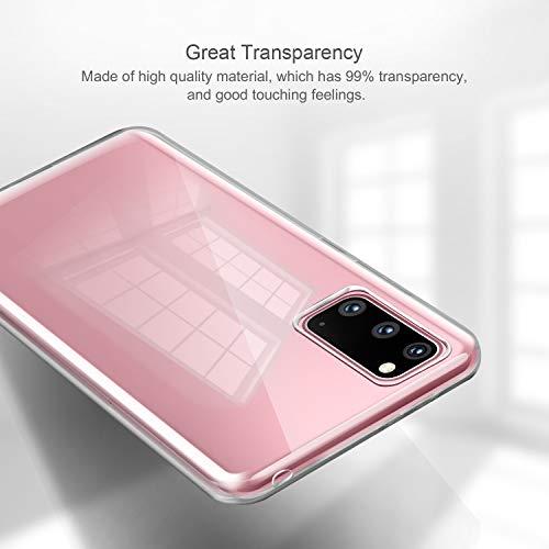 """ivencase Cover per Samsung Galaxy S20 Trasparente, Custodie Crystal Ultra Thin Morbido Silicone TPU Antiurto Anti-Scratch Anti Scivolo Protettiva Case Cover per Samsung Galaxy S20 6.2"""" (4G/5G)"""