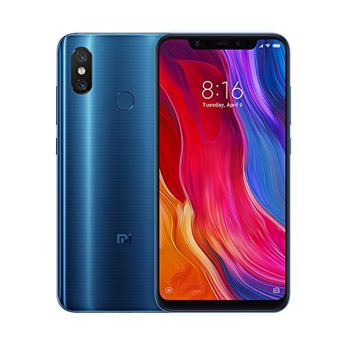 """Xiaomi Mi 8 - Smartphone de 6.21"""" (Octa-Core Kryo 2.8 GHz, RAM de 6 GB, Memoria de 128 GB, cámara de 20 MP, Android 8.0) Color Azul [Versión española]"""