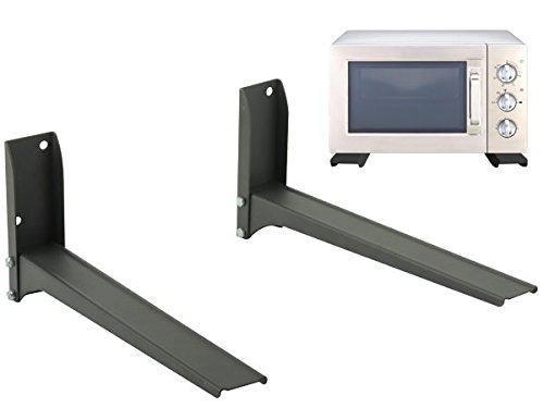 DRALL INSTRUMENTS Universal Wandhalterung für Mikrowelle in Küche für Grill Backofen Mini-Grill Ablage schwarz Modell: H76B